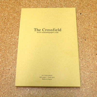 """Seven Seas """"CROSSFIELD"""" A5 Grid Journal 1st Edition - Nanami Paper and Supply"""