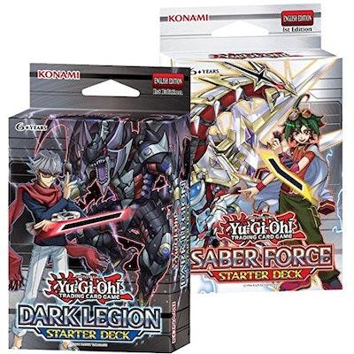 YuGiOh Saber Force & Dark Legion Starter Decks