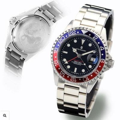 GMT-OCEAN 1 BLUE RED - Diver Watches  - Steinhartwatches