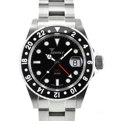 Squale 300 meter Swiss Automatic GMT Dive watch with Sapphire Crystal #1545CG-CE