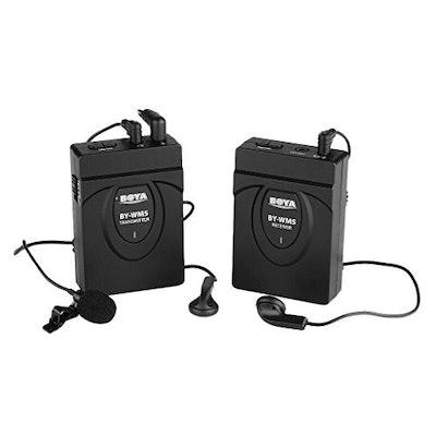 BOYA BY-WM5 Wireless Lavalier Microphone for Canon Nikon Sony DSLR Camera Camcor