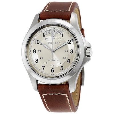 Hamilton Khaki Field King Automatic Silver Dial Men's Watch H64455523 - Khaki Fi