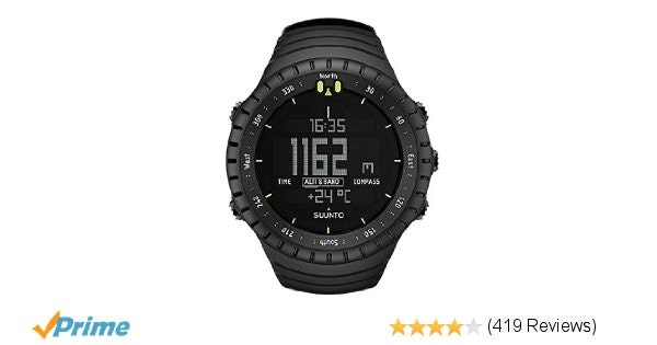 Suunto Core Wrist-Top Computer Watch with Altimeter, Barometer, Compass, and Dep
