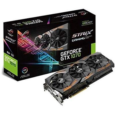 ASUS GeForce GTX 1070 8GB ROG Strix Graphic Card (STRIX-GTX1070-8G-GAMING)