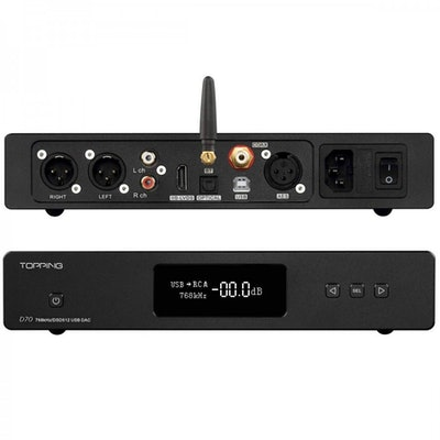 Topping D70 HiFi Balanced DAC with Remote Control (Bluetooth Version)