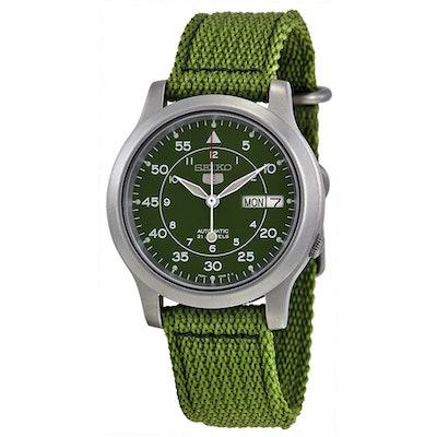 Seiko 5 Green Dial Green Canvas