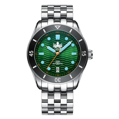 PHOIBOS WAVE MASTER PY010A 300M Automatic Dive Watch Greenstararrow-uparrow-left