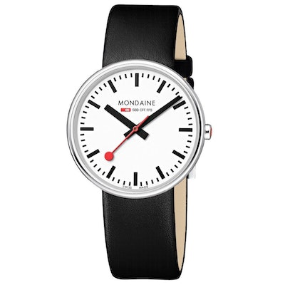 Giant, 35 mm, black leather watch, MSX.3511B.LB  – Mondaine Watch