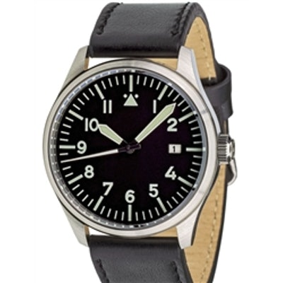 Islander Aviator Pilot Automatic Watch with an AR sapphire crystal, luminous han