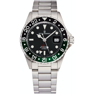 Revue Thommen Men's 42mm Diver Swiss Made Automatic Mechanical Date Stainless St