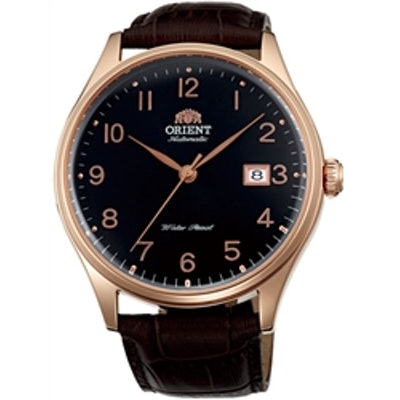 Orient Duke Automatic Dress Watch with Black Dial, Rose Goldtone Case #ER2J001B
