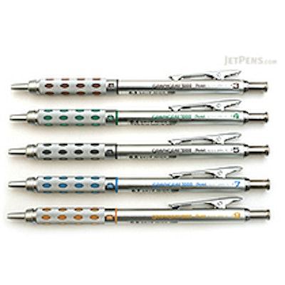 Pentel Graph Gear 1000 Drafting Pencil - 5 Sizes Set