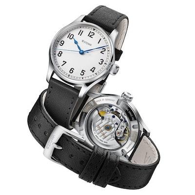 Marine Classic 36 arabic white date   Uhrenmanufaktur seit 1927