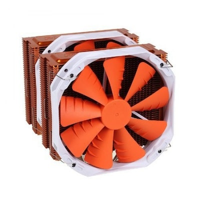 PHANTEKS PH-TC14PE_OR 5 x ?8mm Dual Heat-Pipes Dual 140mm Premium Fans and Quiet
