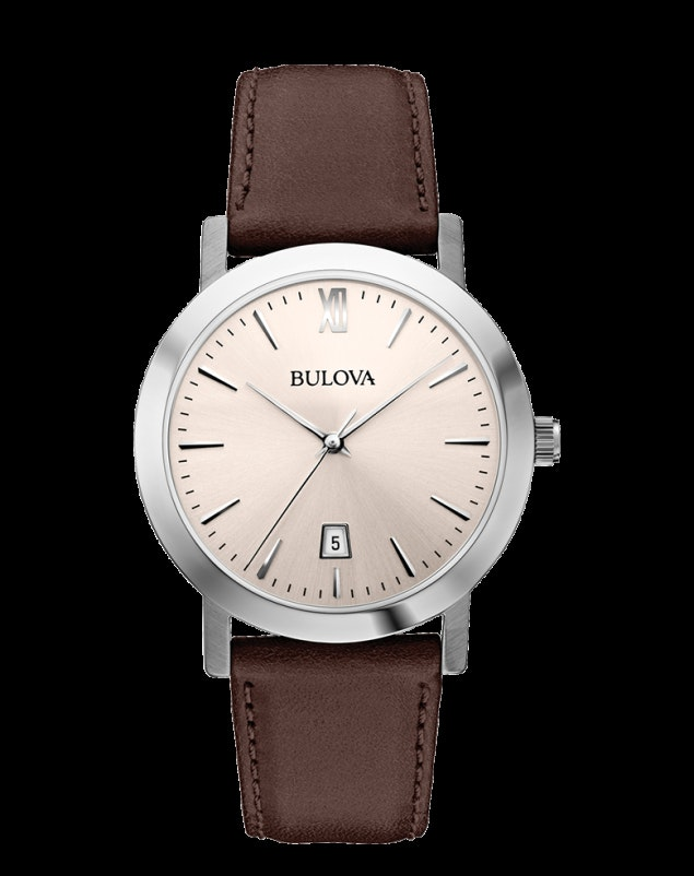 Bulova Leather Watch