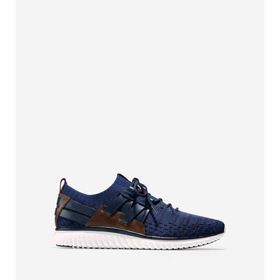 Cole Haan GrandMøtion Woven Sneaker with Stitchlite™ in Navy Ink-peony Knit : Co
