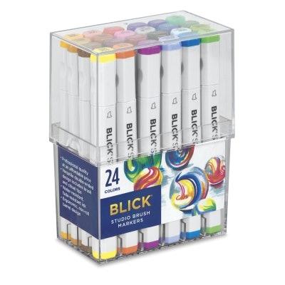 Blick Studio Brush Markers - Set of 24