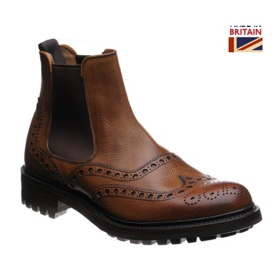 Cheaney shoes | Cheaney of England | Tamar C rubber-soled brogue Chelsea boots i