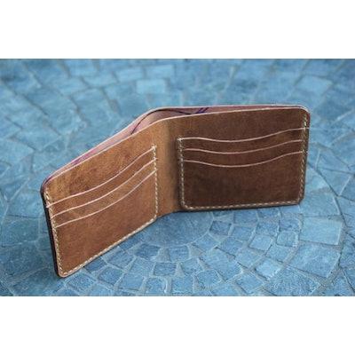 Chester Mox #53 Compact Bi-fold Horween Shell Cordovan Dark