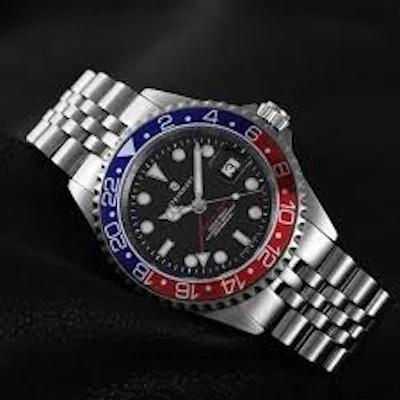 STEINHART GMT-OCEAN 1 BLUE RED | Taucheruhr bis 30 ATM - Steinhartwatches