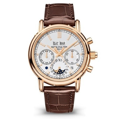 Patek Philippe Grand Complications Perpetual Chronograph Silver Dial Men's Watch