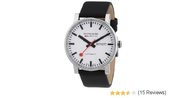 Amazon.com: Mondaine Men's A132.30348.11SBB Evo Big Evo Automatic Analog Display