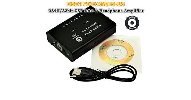 Douk Audio DSD1796+XMOS-U8 USB DAC 384K/32bit Audio Decoder Hi-Fi He