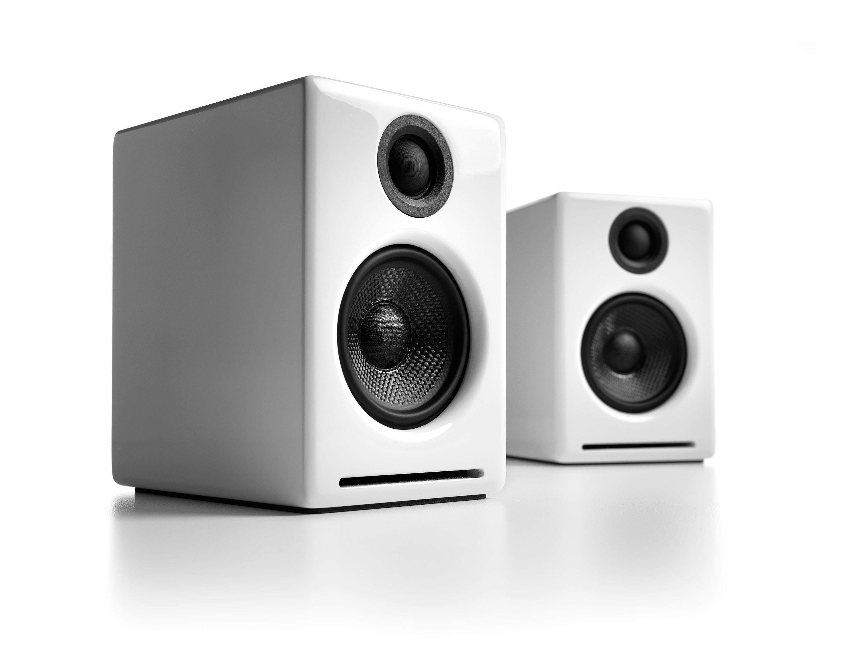 Audioengine 2+ (A2+) Premium Powered Desktop Speakers, White
