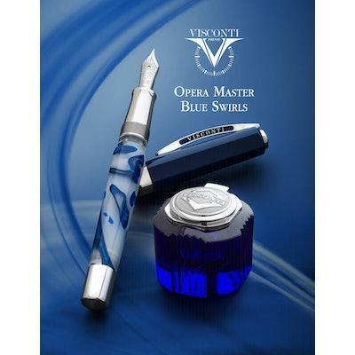 Visconti Opera Master Fountain Pen - Blue Swirls