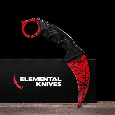 Real Crimson Web Karambit - Elemental Knives