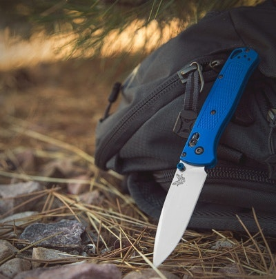 "Benchmade Bugout AXIS Lock Knife Blue (3.24"" Satin) 535 - Blade HQ"