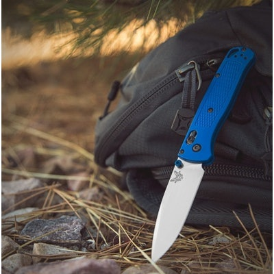 """Benchmade Bugout AXIS Lock Knife Blue (3.24"""" Satin) 535 - Blade HQ"""