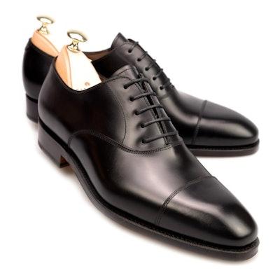 Black Captoe Oxford Shoes | CARMINA