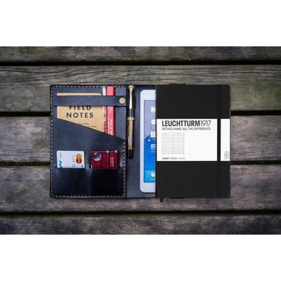 Leather Leuchtturm1917 A5 Notebook Cover - Black