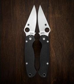 Spyderco Paramilitary 2 Left Handed - Black G-10 & Satin Blade | Blade HQ
