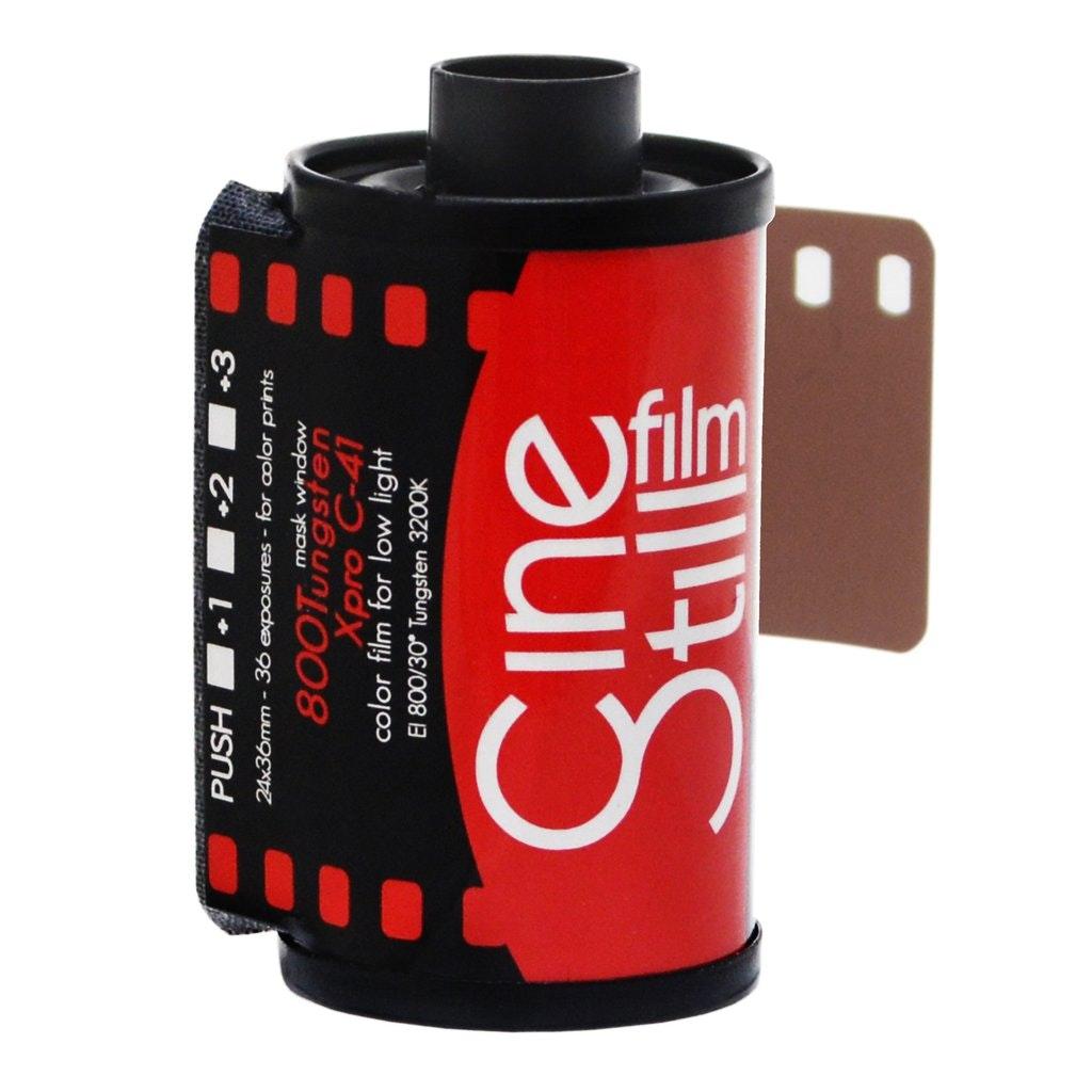 800Tungsten High Speed Color Film, 35mm 135/36exp. (ISO 800) – CineStill Film