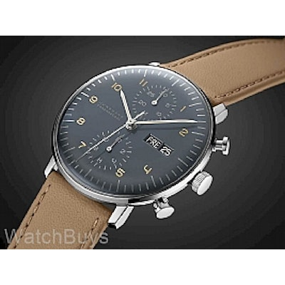 Junghans Max Bill Chronoscope Day/Date Anthracite Dial
