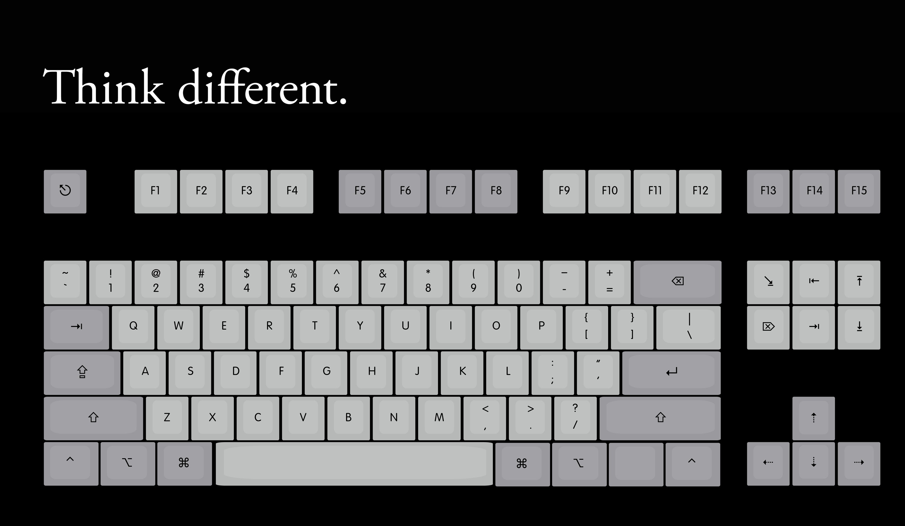 Think Different (DCS or Cherry Profile, dye-sub, Thick PBT)