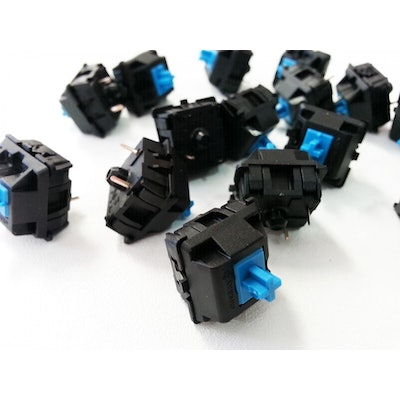 Cherry MX Blue Keyswitch - Plate Mount - Tactile, Click - 110 Pack by Cherry