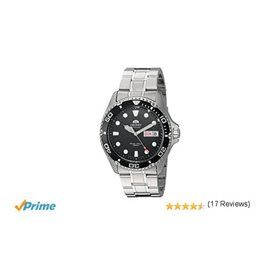 Orient Men's 'Ray II' Japanese Automatic Stainless Steel Diving Watch, Color:Sil