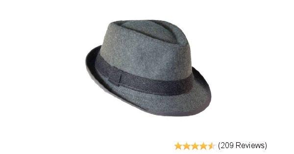 Dorfman Pacific Mens Wool Blend Fedora Hat with Herringbone Band 11bb3064a718