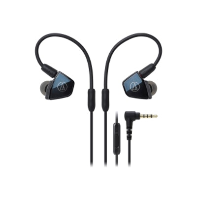 Audio Technica ATH-LS400iS In-Ear Quad Armature Driver Headphones with In-line M