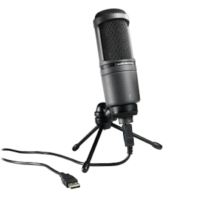 AT2020 USB Cardioid Condenser USB Microphone For Recording || Audio-Technica US