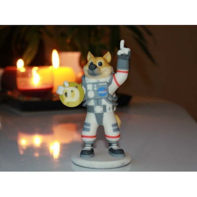Doge (To The Moon, Dogecoin) By 3D_Doge On Shapeways