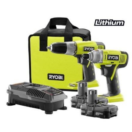 18-Volt One+ Lithium-Ion Drill/Driver and Impact Driver Combo Kit