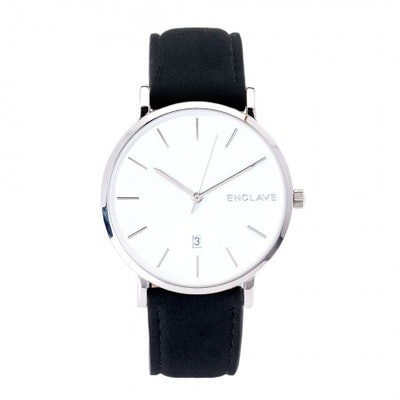 Black Suede Enclave Watch
