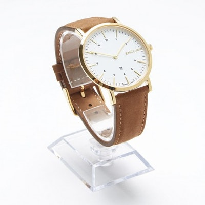Brown Suede Enclave Watch