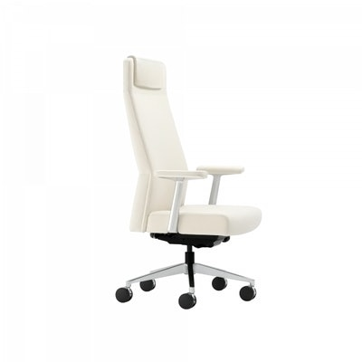 Siento Chair, Elmo Soft Leather, Aluminum Base from Steelcase