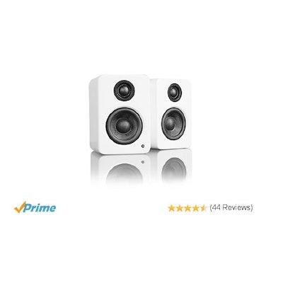 Amazon.com: Kanto YU2MW Powered Desktop Speakers (Matte White): Computers & Acce