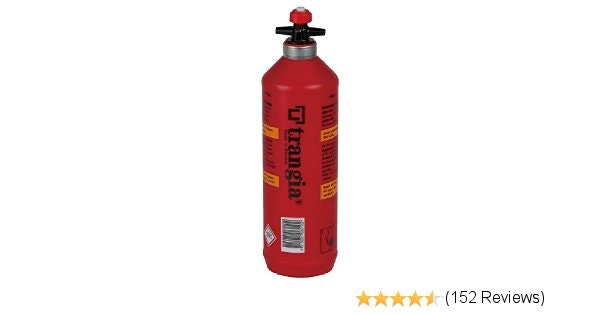 Amazon.com : Trangia Fuel Bottle, 0.3-Liter : Empty Camping Stove Fuel Bottles :